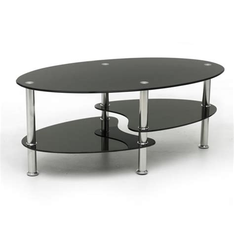 cara coffee table black glass split shelf at wilko
