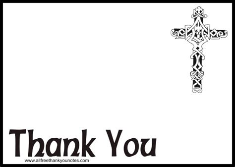 religious thank you card template free religious thank you notes and thank you cards