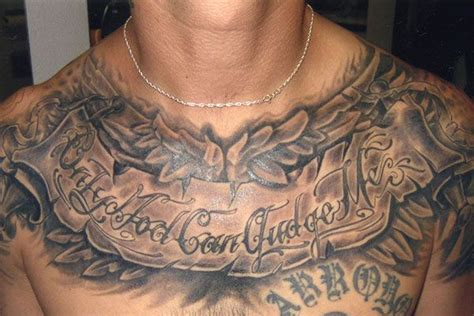 tattoo across chest chest tattoos 28 intriguing chest tattoo quotes