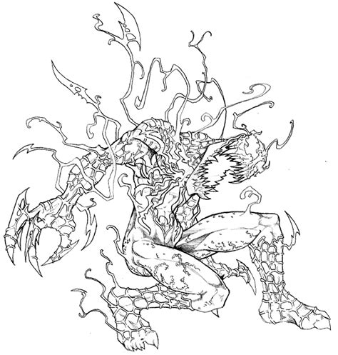 ultimate carnage coloring pages coloring pages