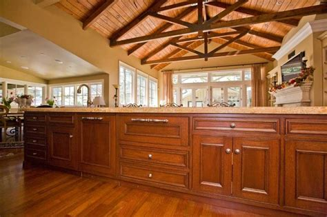bay area kitchen cabinets fine custom kitchen cabinets and truss ceiling by bay area