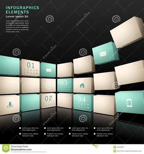 infographic wall vector abstract 3d wall infographics royalty free stock