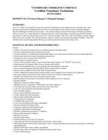 Sle Resume For Veterinary Veterinary Technician Resume Exles Best Resumes
