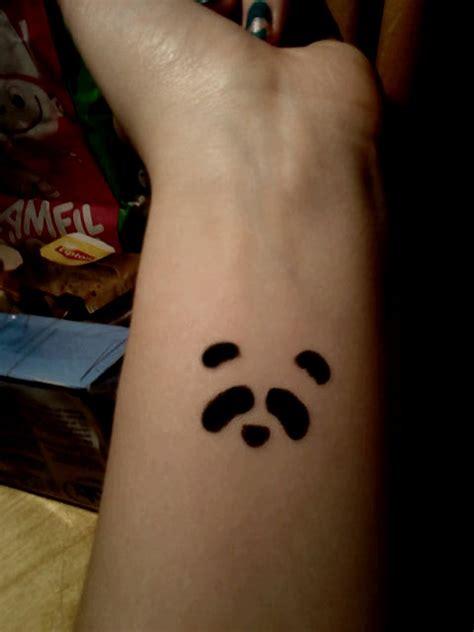 small panda tattoo ideas just a panda by lekledaren deviantart com inked
