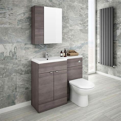 grey bathroom mirror brooklyn bathroom mirror fascia cabinet grey avola