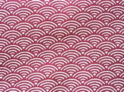cute japanese cotton fabric wave patterns 1 yard (f47