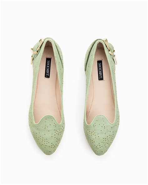 mint green flats shoes 131 best flats images on flats ballerinas and