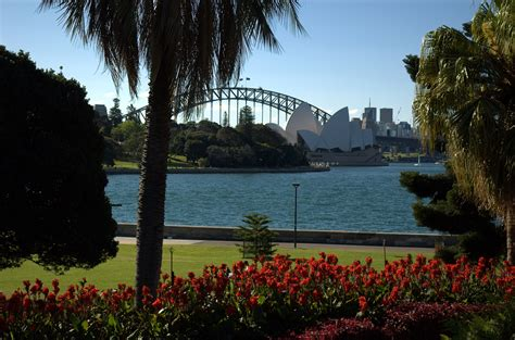 Botanical Gardens In Sydney File Sydney Harbour Bridge And Opera House From Botanic Gardens Jpg Wikimedia Commons