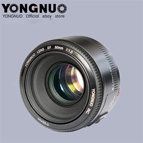 Yongnuo 50 F18 Afmf Prime Fixed Lens For Canon 6 7 60 70 700d high quality yongnuo yn50mm f 1 8 view angle standard