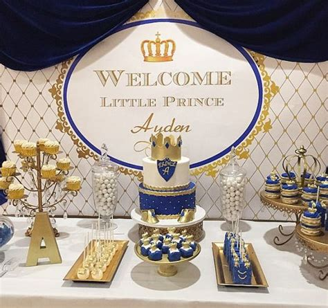 A New Prince Baby Shower Theme by Royal Blue Gold White Prince Themed Printable By