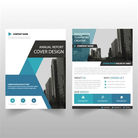 business brochure templates free business brochure template with geometric shapes vector