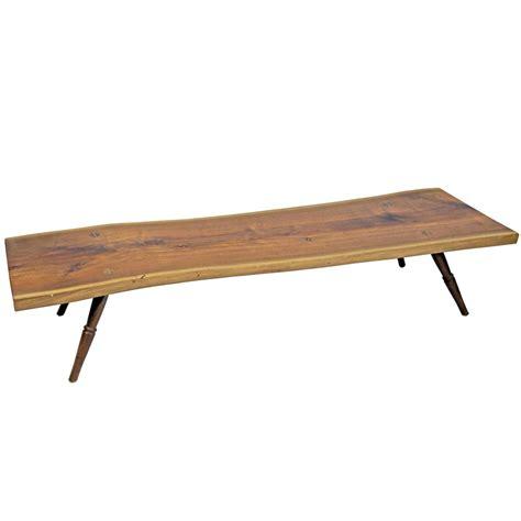 shimna handmade amish walnut live edge slab coffee table