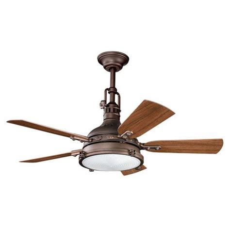 44 inch outdoor ceiling fan kichler hatteras bay patio weathered copper four light 44