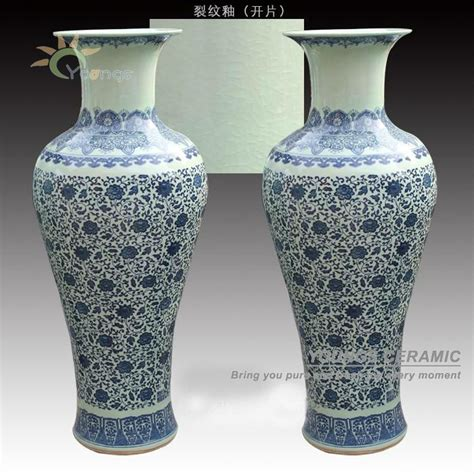 Indoor Vases by Blue And White Ceramic Floor Flower Vase For Indoor
