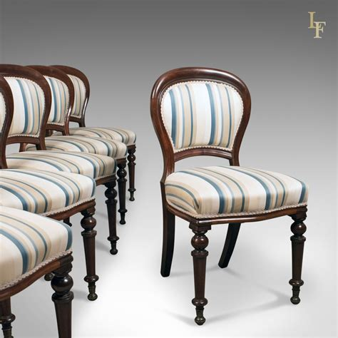set   antique dining chairs english victorian