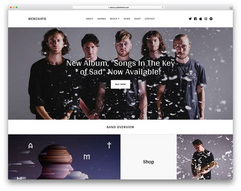 20 of the best wordpress themes for musicians 2018 colorlib