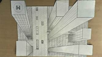 3d building drawing how to draw one point perspective 3d illusion high
