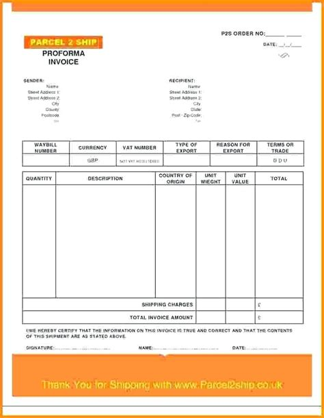 sle proforma invoice excel template fedex proforma invoice template 28 images proforma