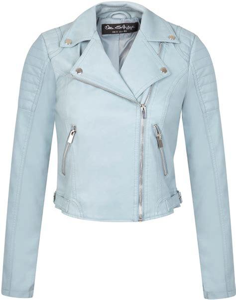 Miss Selfridge Cropped Parka by Miss Selfridge Blue Cropped Biker Jacket Shopstyle Co Uk
