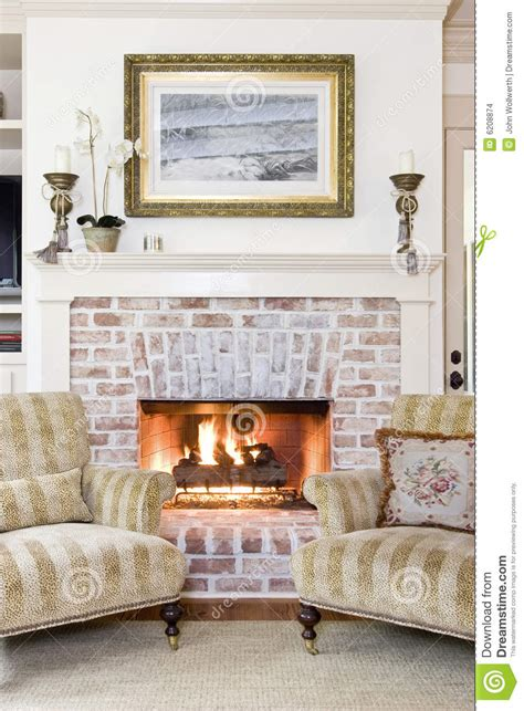 fireplace chairs fireplace and chairs stock images image 6208874