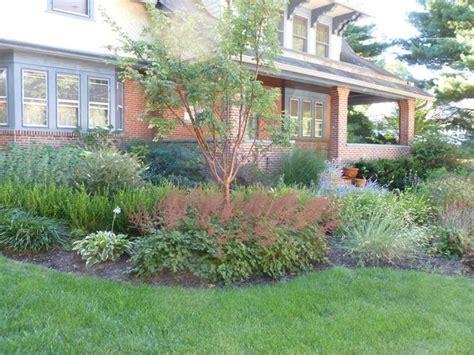 craftsman style home landscape design in merion square