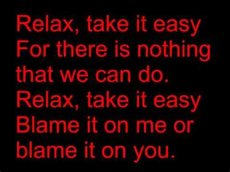 testo relax take it easy relax take it easy lyrics