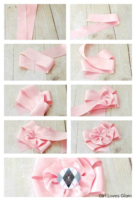 How To Make A Paper Ribbon Flower - satin ribbon flower tutorial cooking with ruthie
