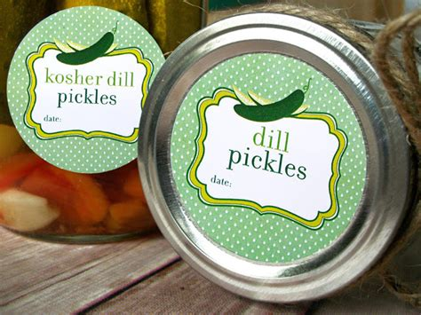 Pickle Canning Labels colorful adhesive canning jar labels pickles canning jar