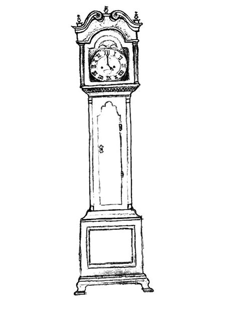 printable grandfather clock free coloring pages of grand father