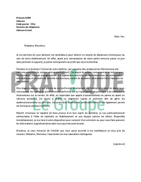 Lettre De Motivation De Debutant lettre de motivation pour un emploi de d 233 panneur