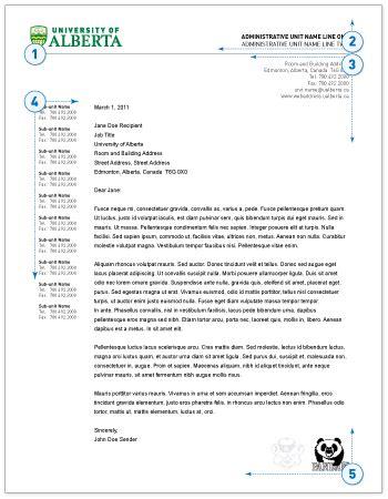 Business Letter Format Alberta Business Letter Format Alberta Sle Business Letter