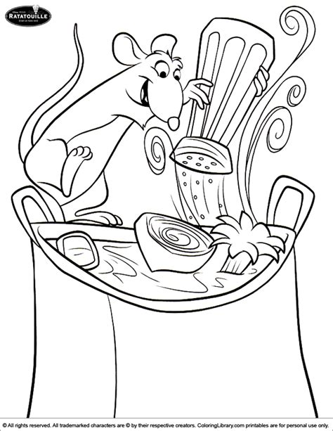 ratatouille coloring pages coloring home
