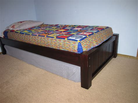 twin platform bed building plans plans diy