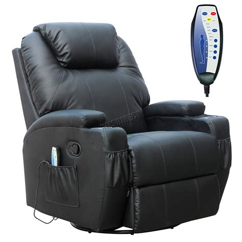 recliner cinema foxhunter bonded leather massage recliner chair cinema