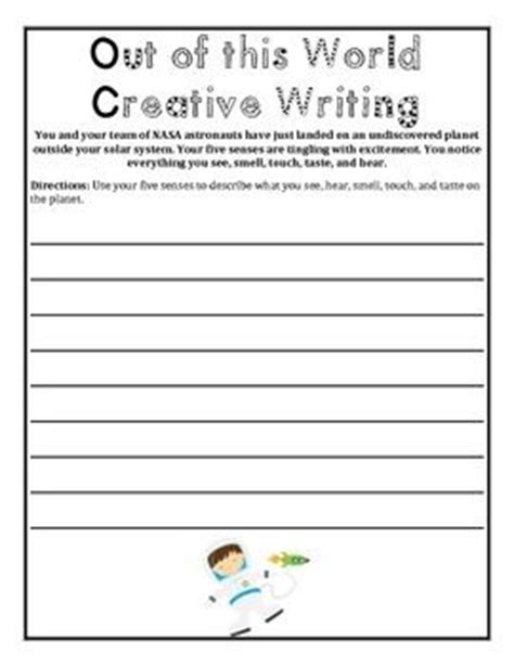 Creative Writing Worksheets For Grade 7 by Out Of This World Outer Space Writing And Math Worksheet