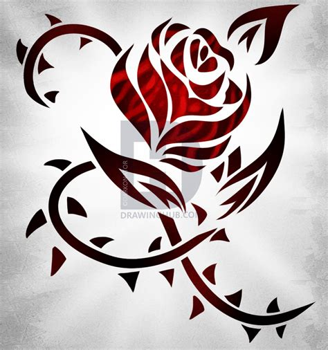 tribal tattoo guide how to draw a tribal rose tattoo step by step drawing