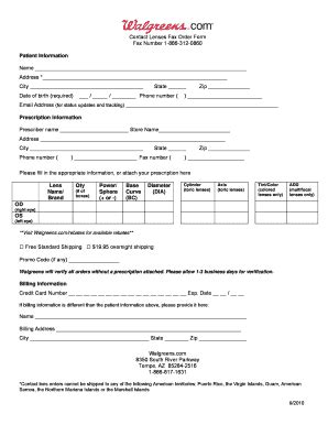eye prescription template fill online, printable