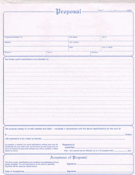 contractor bid template free nc3819 contractors form