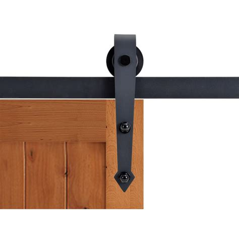 Barn Door Hinge Hardware Calhome 72 In Matte Black Vintage Arrow Barn Style Sliding Door Track And Hardware Set Sdh