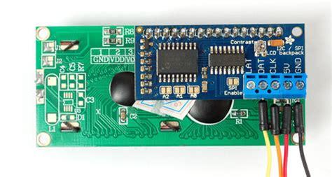 I2c Lcd Back Pack For Arduino arduino i2c use i2c spi lcd backpack adafruit learning