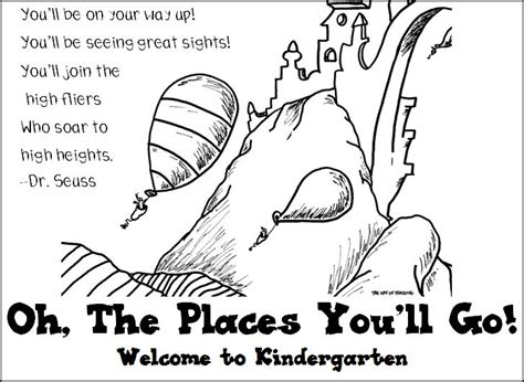 Oh The Places You Will Go Coloring Sheet Dr Seuss Coloring Pages Dr Seuss Oh The Places You Ll Go