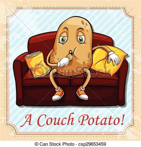 couch potato icon clipart vector of potato sitting on a couch illustration
