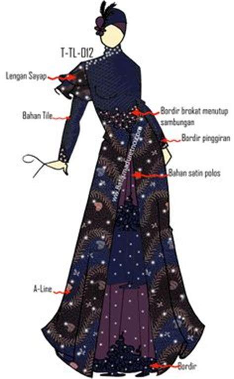 foto desain dress batik desain baju pesta muslimah fashion design pinterest