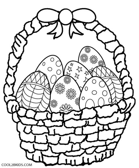 coloring pages for easter basket printable easter egg coloring pages for cool2bkids