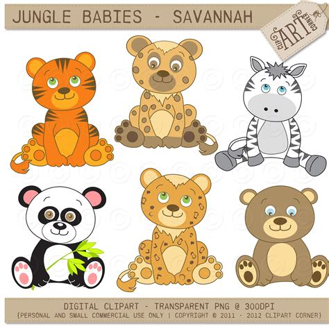 clipart animals baby jungle animals clipart free 101 clip