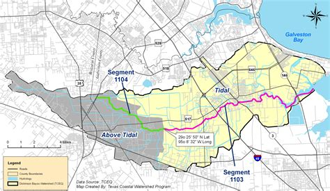 texas bayou map maps and photos dickinson bayou watershed partnership