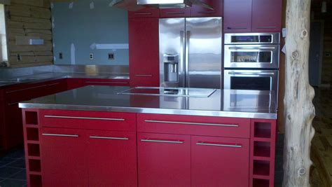 Stainless Steel Countertop Installation by Stainless Steel Countertops