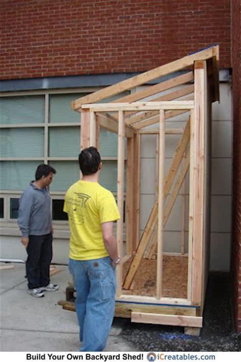 lean  shed build  doors pinterest lean