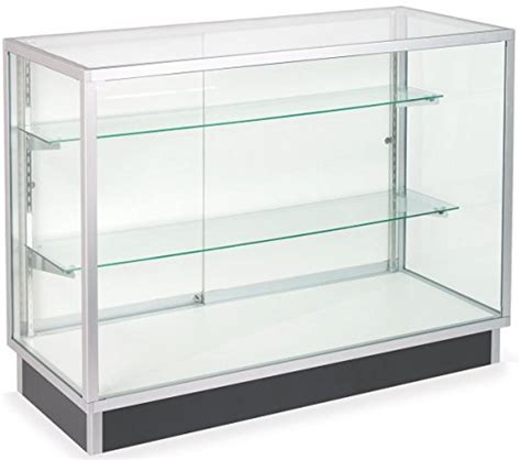 free standing glass display cabinet tempered glass and