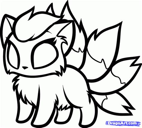 chibi dragon coloring page how to draw chibi ninetales step by step chibis draw